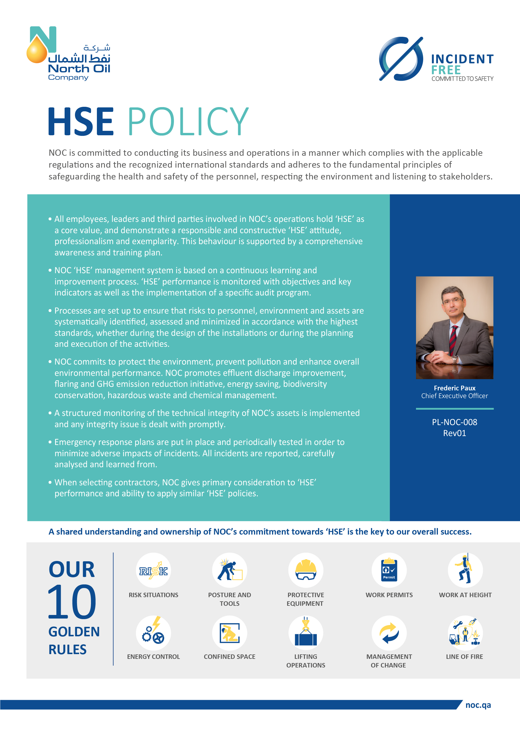 NOC HSE Policy